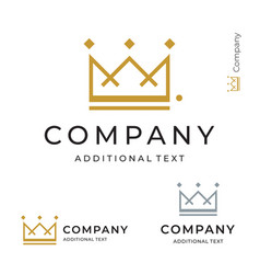 crown logo modern identity brand icon commercial vector image