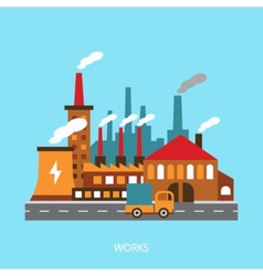 industrial power plant in flat vector image vector image