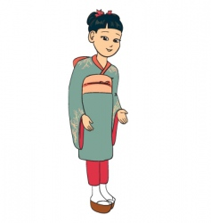 japanese girl vector image vector image