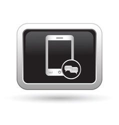 Phone icon with chat menu vector image vector image