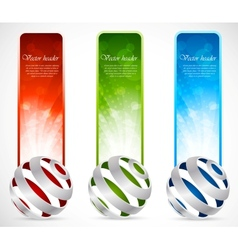 Set of banners with spheres vector image vector image