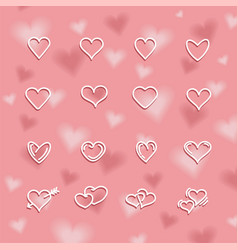 valentines day background with beautiful hearts vector image