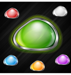 Colourful buttons vector image vector image