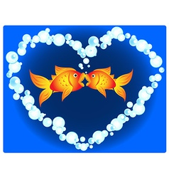 Goldfish love vector image