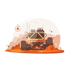 Mars rover for scientific research vector image