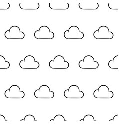 seamless pattern from white cloud on white vector image vector image
