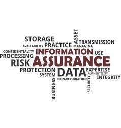 word cloud - information assurance vector image vector image