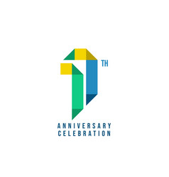 17 th anniversary celebration template design vector