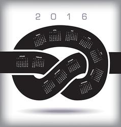 2016 Knot Calendar vector