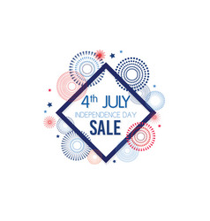 4th july exclusive offers sale sale poster vector image