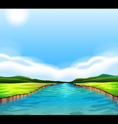 A flowing river vector