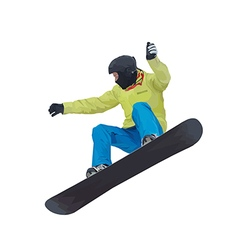 A young boy snowboarder vector