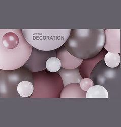 abstract background with 3d spheres balls are vector image