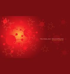 Abstract technology danger red virus geometric vector