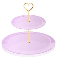 An empty cupcake tray vector