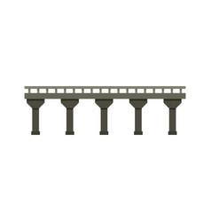 Auto bridge icon flat style vector