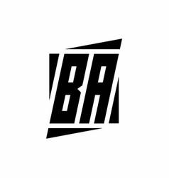Ba logo monogram with modern style concept design vector