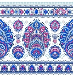 Beautiful Indian floral paisley seamless ornament vector