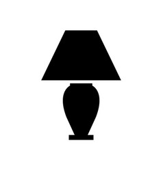 Bedside light bulb icon vector