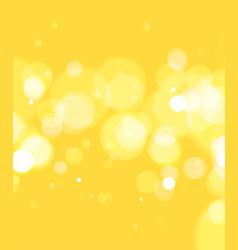 Bokeh light yellow background vector