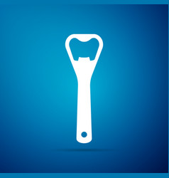 bottle opener icon isolated on blue background vector image