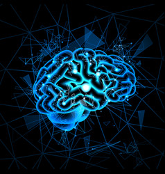 Brain neurons activity medicine thinking vector