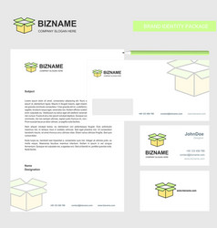 carton business letterhead envelope and visiting vector image