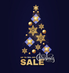 christmas tree sale design template vector image