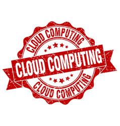Cloud computing stamp sign seal vector