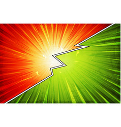 comic book action layout background with power fx vector image