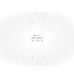 cyber world of gray digital white background vector image
