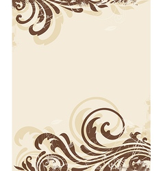Decorative vintage floral background vector