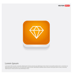 diamond icon orange abstract web button vector image