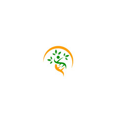 Dna people leaf nature ecology logo vector