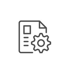 Document settings line icon vector
