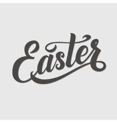 Easter Typographical Background Hand Lettering vector image
