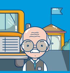 Elementary school cartoons vector