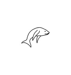 fish cartoon icon vector image