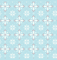 Floral snowflake seamless pattern vector