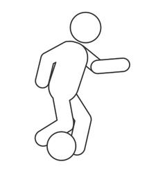 Football soccer pictogram icon vector