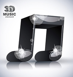 Funky double musical note 3d modern style icon vector