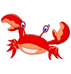 funny crab cartoon posing vector image