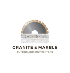 Granite and marble cutting and countertop logo vector