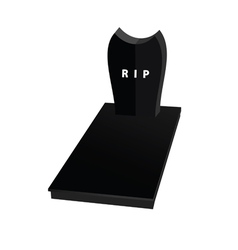 Gravestone in black vector
