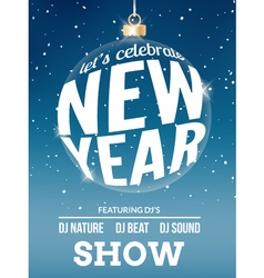 Happy new year festive flyer design template vector