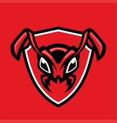 Head ant mascot vector