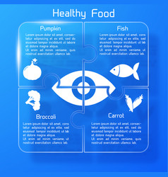 healthy food infographics puzzle design vector image