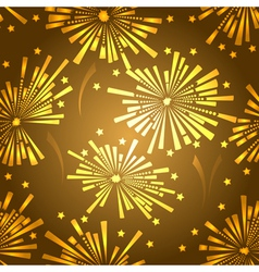 Holiday new year fireworks seamless pattern vector image