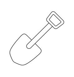 Icon camping shovel vector