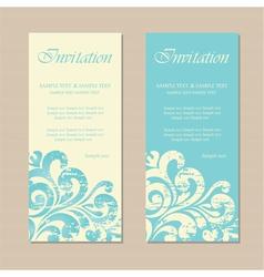 invitation cards vector image